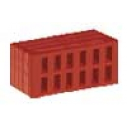 Кирпич керамический утолщенный красный рифленый КУРПу